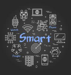 chalk board concept - smart vector image
