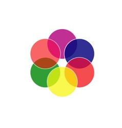 Colorful circles- color scheme vector image