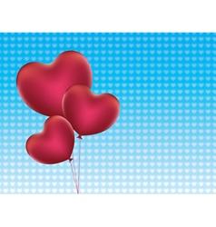 Heart Shaped Balloons2 vector image
