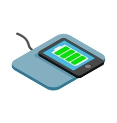 Mat for charging phone icon isometric 3d style vector image vector image