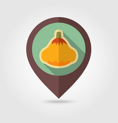 pattypan squash flat pin map icon vegetable vector image vector image