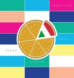 pizza taste italy vector image vector image