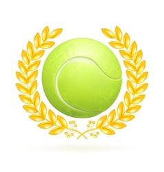 Tennis emblem vector image vector image
