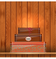 Tin Boxes Shelf vector image