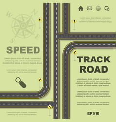 Abstract roads background vector