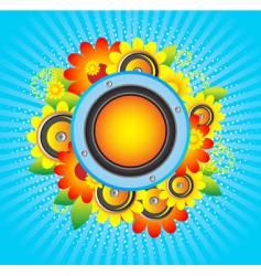 flowers speakers vector image