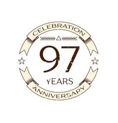 ninety seven years anniversary celebration logo vector image vector image