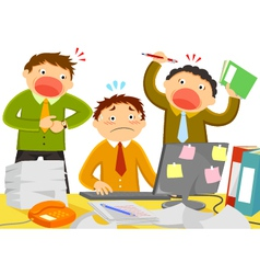 stressful work vector image vector image