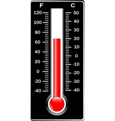 Thermometer Celsius and Fahrenheit vector image