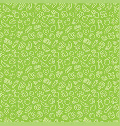 vegetables and fruits seamless pattern background vector image