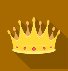 golden crown with diamonds the winner of the vector image