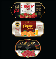 jam and juice package design vector image