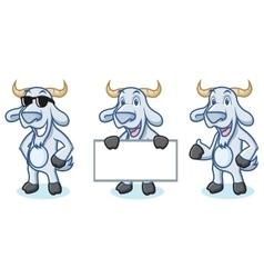 Light Blue Goat Mascot happy vector image vector image