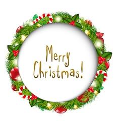 Merry Christmas Speech Bubble vector image