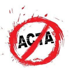 No ACTA symbol vector image