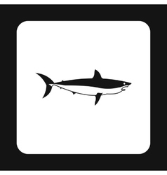 Shark icon in simple style vector image vector image