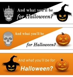 Three Halloween Poster vector image vector image