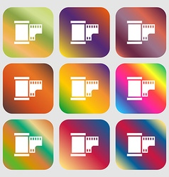 35 mm negative films icon vector