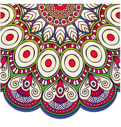 abstract mandala peacock design image vector image