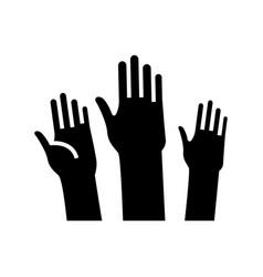 active hands black icon concept vector image