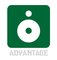 Advantage concept icon on white vector