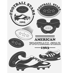 American football fantasy league labels emblems vector