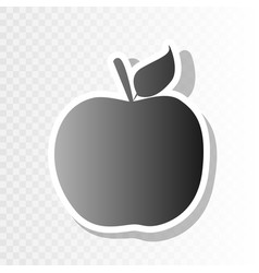 apple sign new year blackish vector image