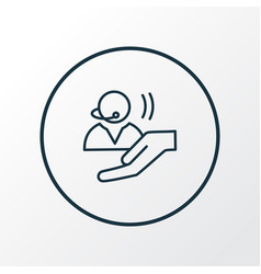 Assistance icon line symbol premium quality vector