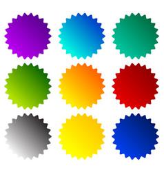 Badge starburst price flash shapes vector