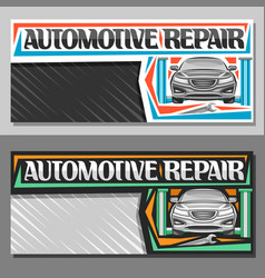 Banners for automotive repair vector
