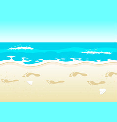 Beach walk vector