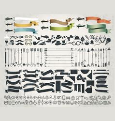 big object symbols set for all design vector image