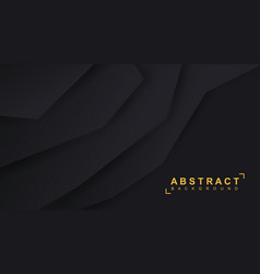black paper background 3d vector image