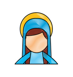 Blessed holy virgin mary christmas celebration vector