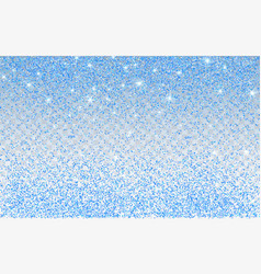Blue glitter sparkle on a transparent background vector