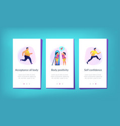 body positive app interface template vector image