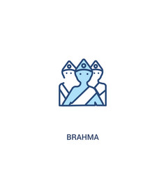 Brahma concept 2 colored icon simple line element vector
