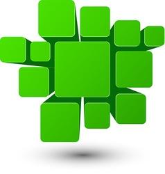 Bubble green infographics design vector