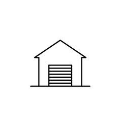building garage outline icon element of vector image