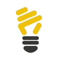 bulb light ecology isolated icon vector image