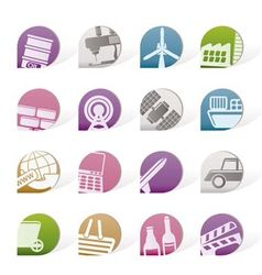 Business and industry objects vector