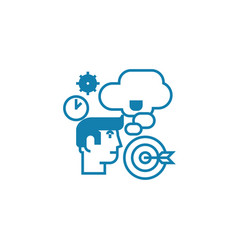 business planning linear icon concept business vector image