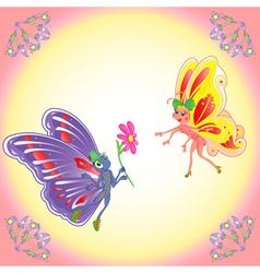 butterflies in love vector image