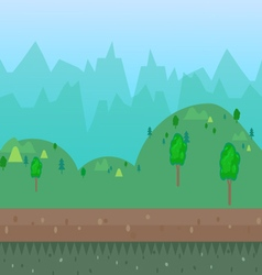 Cartoon natural landscape vector