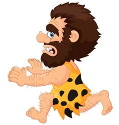 Caveman running vector