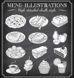 chalkboard food vector image