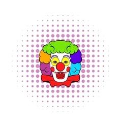 Clown icon comics style vector image