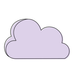 color nice cloud nature weather icon vector image