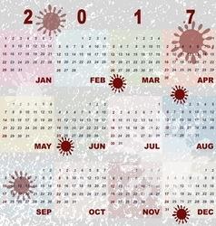 Color splash template of 2017 calendar vector