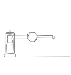 Continuous one line drawing barrier gates vector
